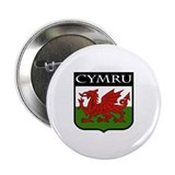 Wales Coat of Arms 2.25&quot; Button