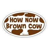 How Now Brown Cow Oval Decal
