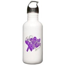 Sjogrens Syndrome Love Hope Cure Water Bottle