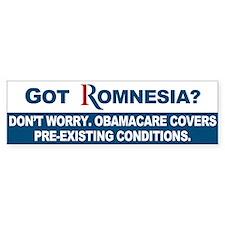 Got Romnesia? Bumper Sticker