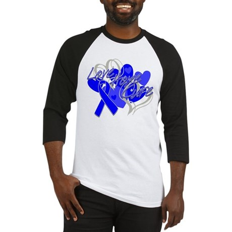Rectal Cancer Love Hope Cure Baseball Jersey