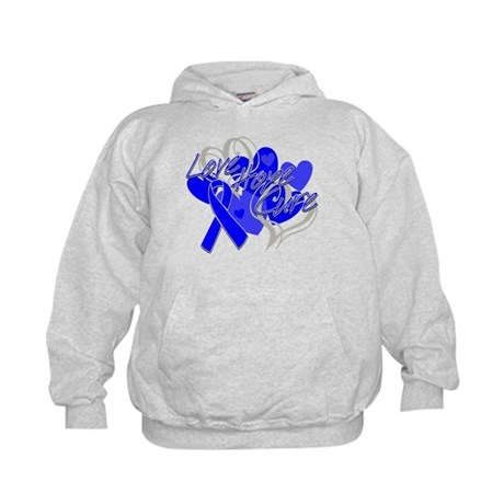 Rectal Cancer Love Hope Cure Kids Hoodie