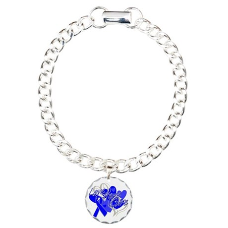 Rectal Cancer Love Hope Cure Charm Bracelet, One C