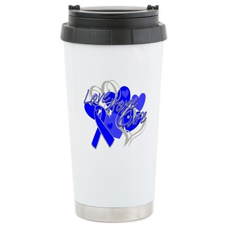 Rectal Cancer Love Hope Cure Ceramic Travel Mug