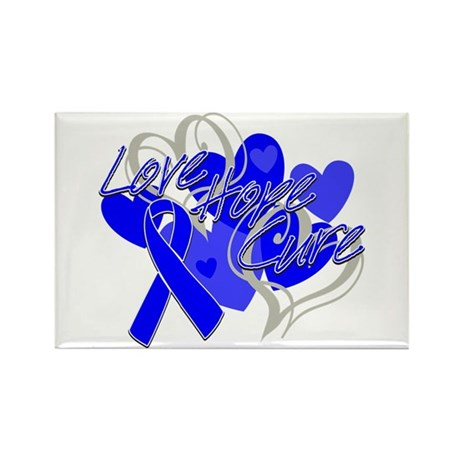 Rectal Cancer Love Hope Cure Rectangle Magnet