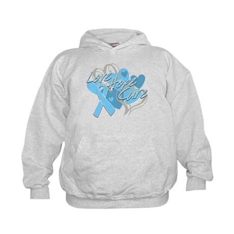 Prostate Cancer Love Hope Cure Kids Hoodie