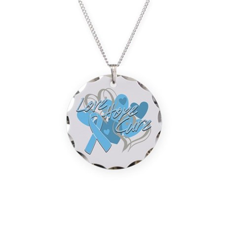 Prostate Cancer Love Hope Cure Necklace Circle Cha