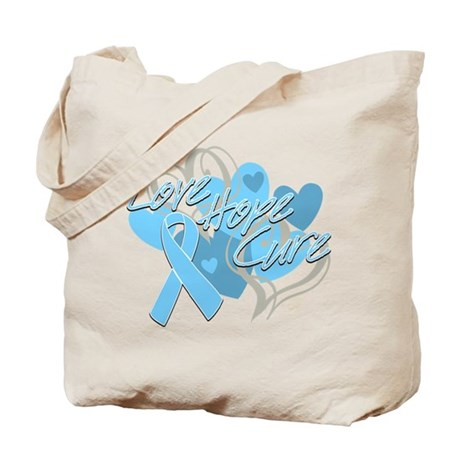 Prostate Cancer Love Hope Cure Tote Bag