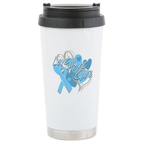 Prostate Cancer Love Hope Cure Ceramic Travel Mug