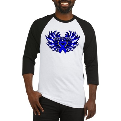 Anal Cancer Heart Wings Baseball Jersey