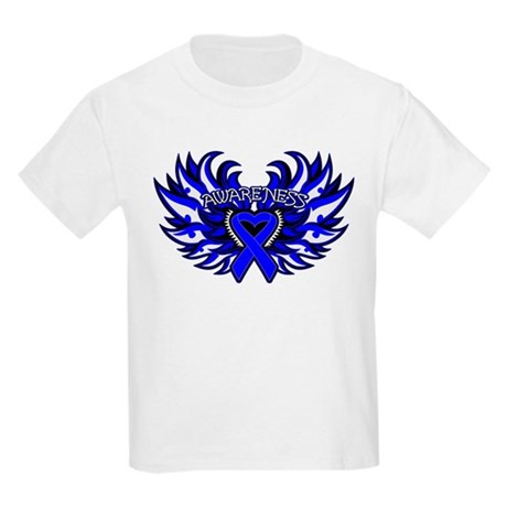 Anal Cancer Heart Wings Kids Light T-Shirt