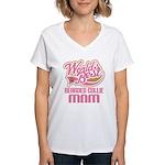 Bearded Collie Mom Women's V-Neck T-Shirt