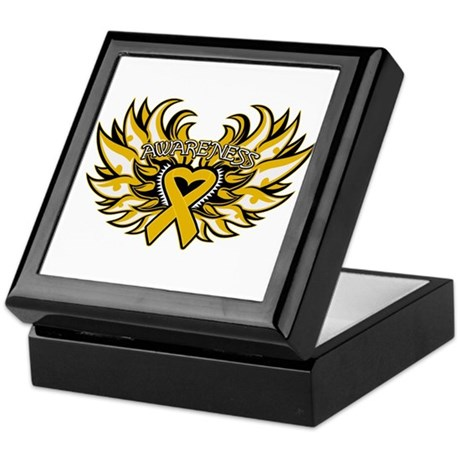 Appendix Cancer Heart Wings Keepsake Box