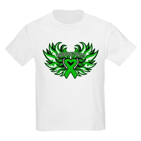 Bile Duct Cancer Heart Wings Kids Light T-Shirt