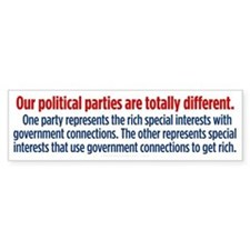 Difference Between Parties Bumper Sticker