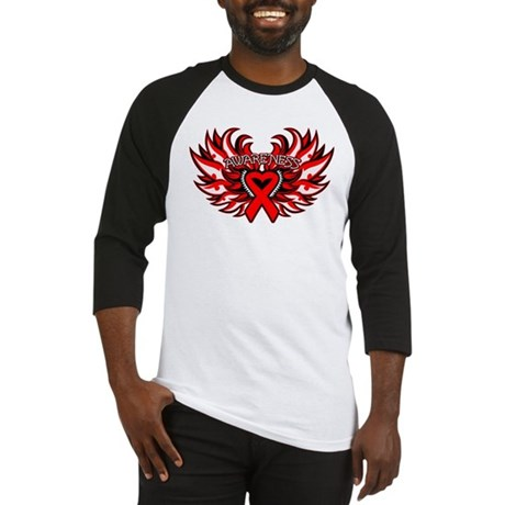 Blood Cancer Heart Wings Baseball Jersey