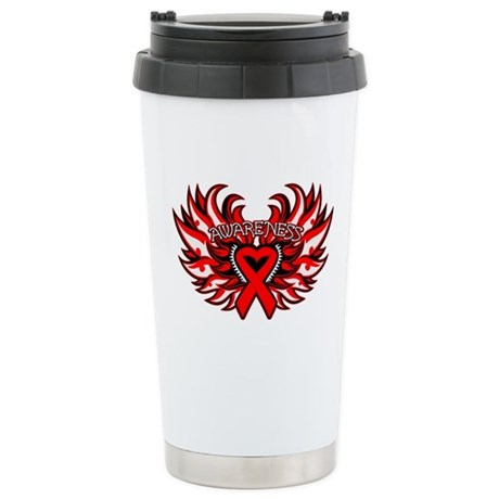 Blood Cancer Heart Wings Ceramic Travel Mug