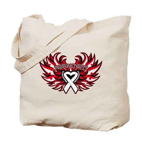Bone Cancer Heart Wings Tote Bag