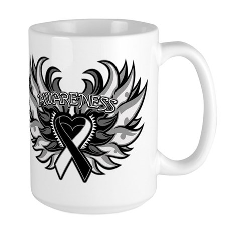 Carcinoid Cancer Heart Wings Large Mug