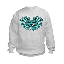 Cervical Cancer Heart Wings Sweatshirt