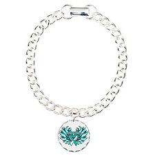 Cervical Cancer Heart Wings Bracelet