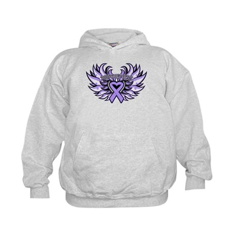 General Cancer Heart Wings Kids Hoodie