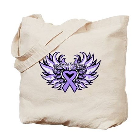 General Cancer Heart Wings Tote Bag