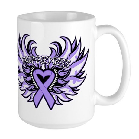 General Cancer Heart Wings Large Mug