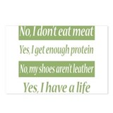 No I Dont Eat Meat Postcards (Package of 8)