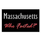 Massachusetts - Who Farted? Rectangle Decal