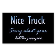 Nice Truck Little Pee-Pee Rectangle Decal