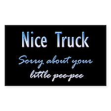 Nice Truck Little Pee-Pee Rectangle Decal