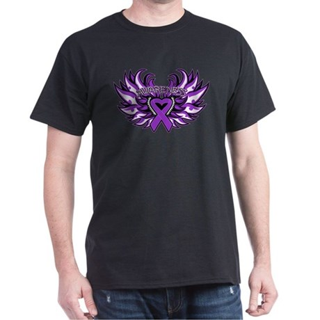 GIST Cancer Heart Wings Dark T-Shirt