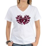 Head Neck Cancer Heart Wings Shirt