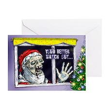 Zombie Santa Christmas card
