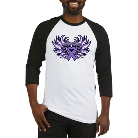 Hodgkins Lymphoma Heart Wings Baseball Jersey
