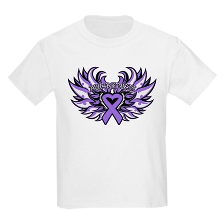 Hodgkins Lymphoma Heart Wings Kids Light T-Shirt