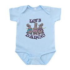 Lets Dance! (hippos) Infant Bodysuit