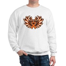 Leukemia Heart Wings Sweatshirt