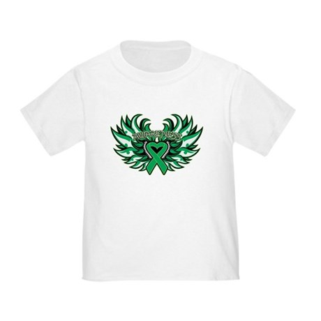 Liver Cancer Heart Wings Toddler T-Shirt