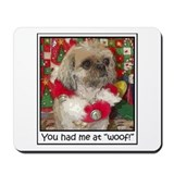 Shih Tzu Dog Pop Art Christmas Sandy Mousepad