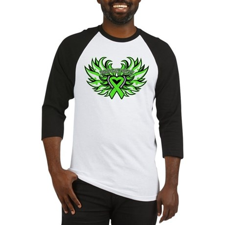 Lymphoma Heart Wings Baseball Jersey