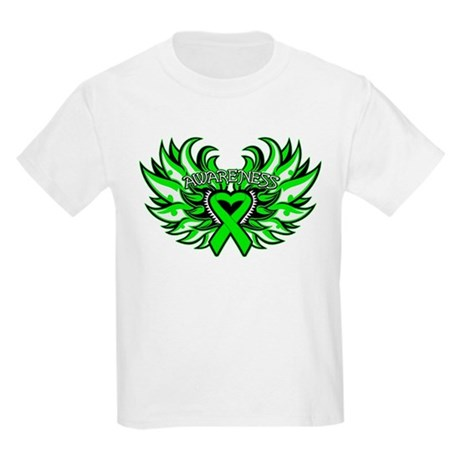 Lymphoma Heart Wings Kids Light T-Shirt