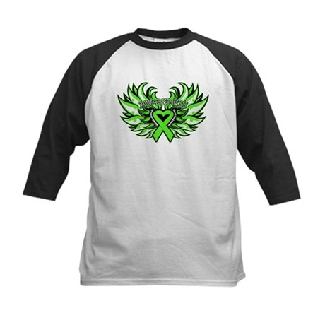 Lymphoma Heart Wings Kids Baseball Jersey