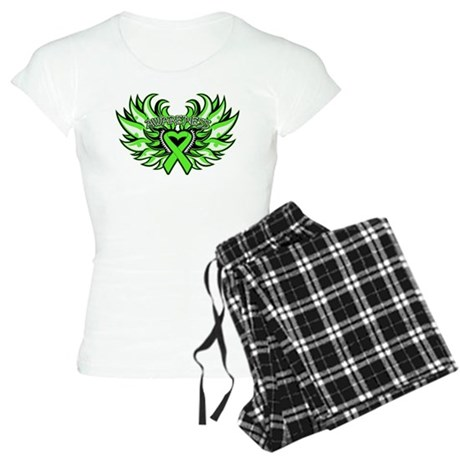 Lymphoma Heart Wings Women's Light Pajamas