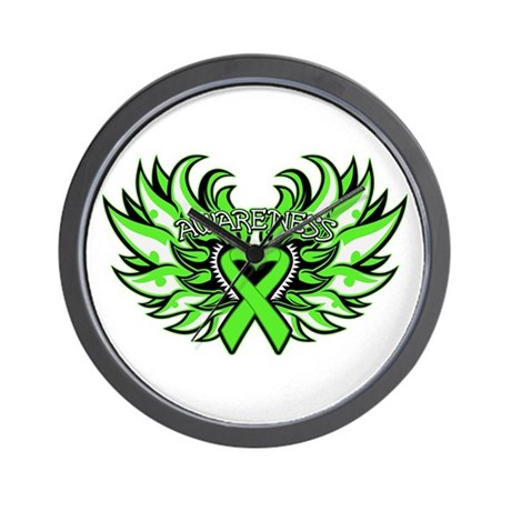 Lymphoma Heart Wings Wall Clock