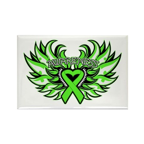Lymphoma Heart Wings Rectangle Magnet