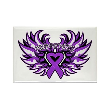 Leiomyosarcoma Heart Wings Rectangle Magnet
