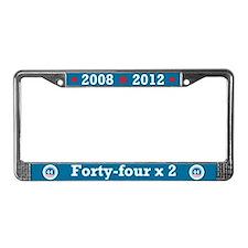 44 Squared Obama License Plate Frame