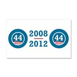 44 Squared Obama Car Magnet 20 x 12